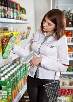 woman-picking-up-packaged-food