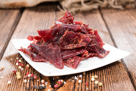 beef-jerky-on-a-plate