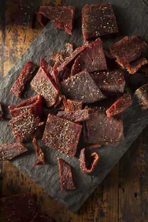 beef-jerky-on-stone-plate