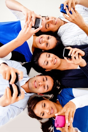 young-people-on-theeir-cell-phones