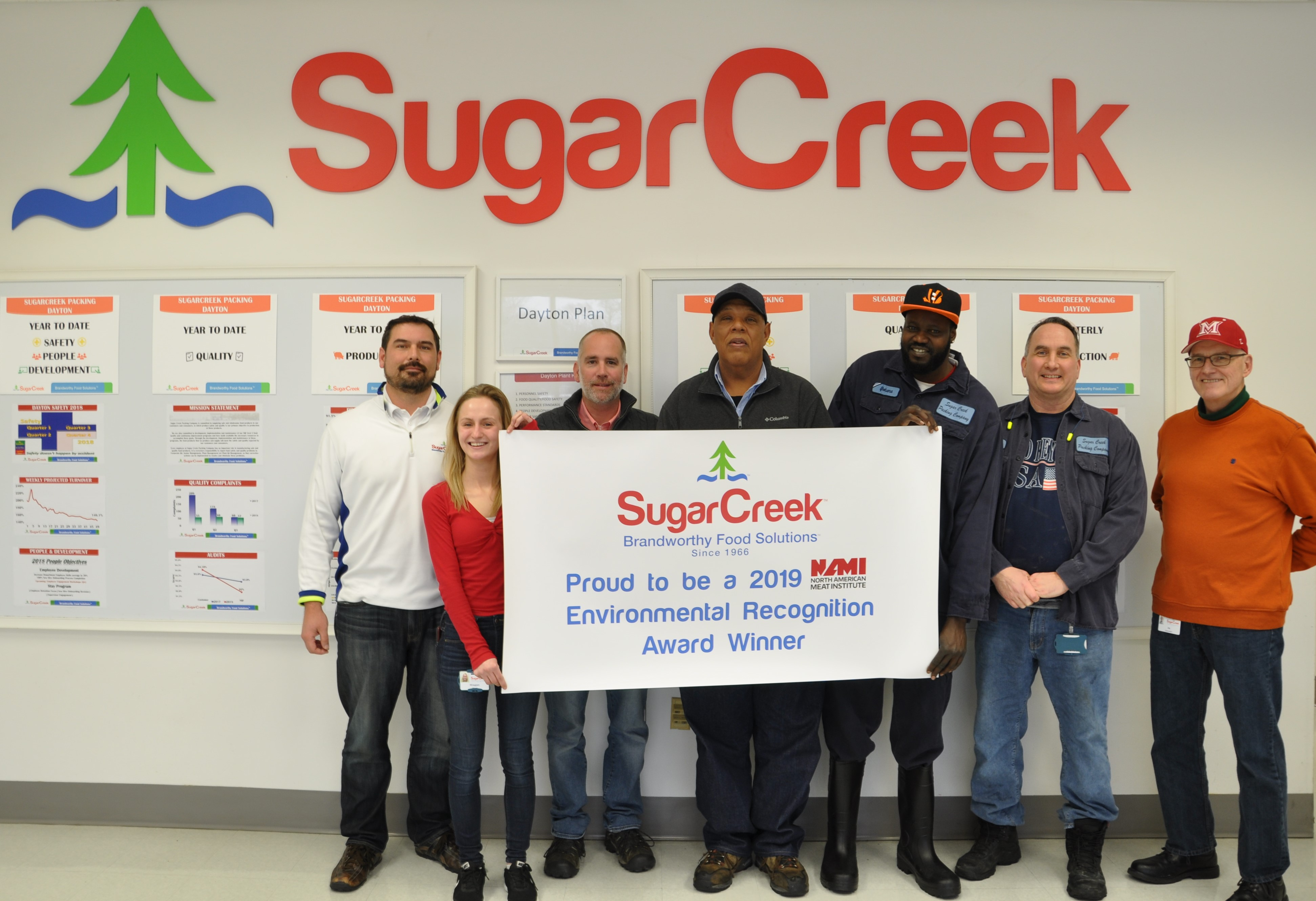 SugarCreek Recognized at 2019 NAMI Awards for Environmental, Health and Safety Achievements